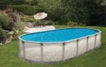 Сборный овальный бассейн Гибралтар (5.5х3.7)